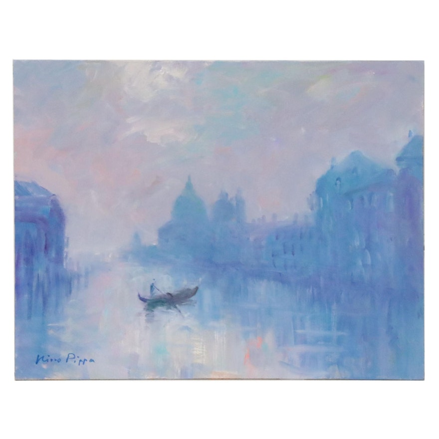 """Nino Pippa Oil Painting """"Venice - The Grand Canal,"""" 2015"""