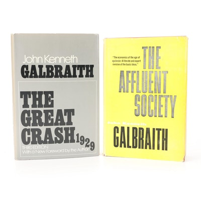 """""""The Affluent Society"""" and """"The Great Crash, 1929"""" by John Kenneth Galbraith"""