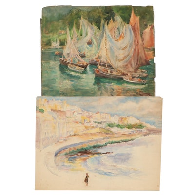 Elizabeth Gowdy Baker Watercolor Paintings, Early 20th Century