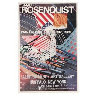 James Rosenquist Offset Lithograph Exhibition Poster, 1986
