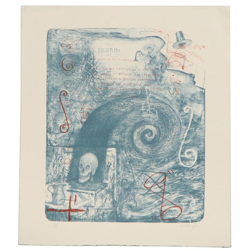 "William T. Wiley Lithograph ""Pilgrim,"" 1994"