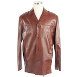 Men's Lambskin Leather Jacket from Vincents, New with Merchant Tag