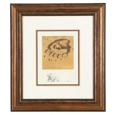 "Bev Doolittle Offset Lithograph ""No Respect,"" 1998"