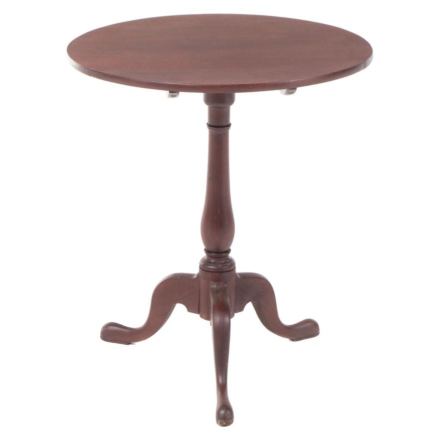 George III Mahogany Tilt-Top Tripod Table, Late 18th Century