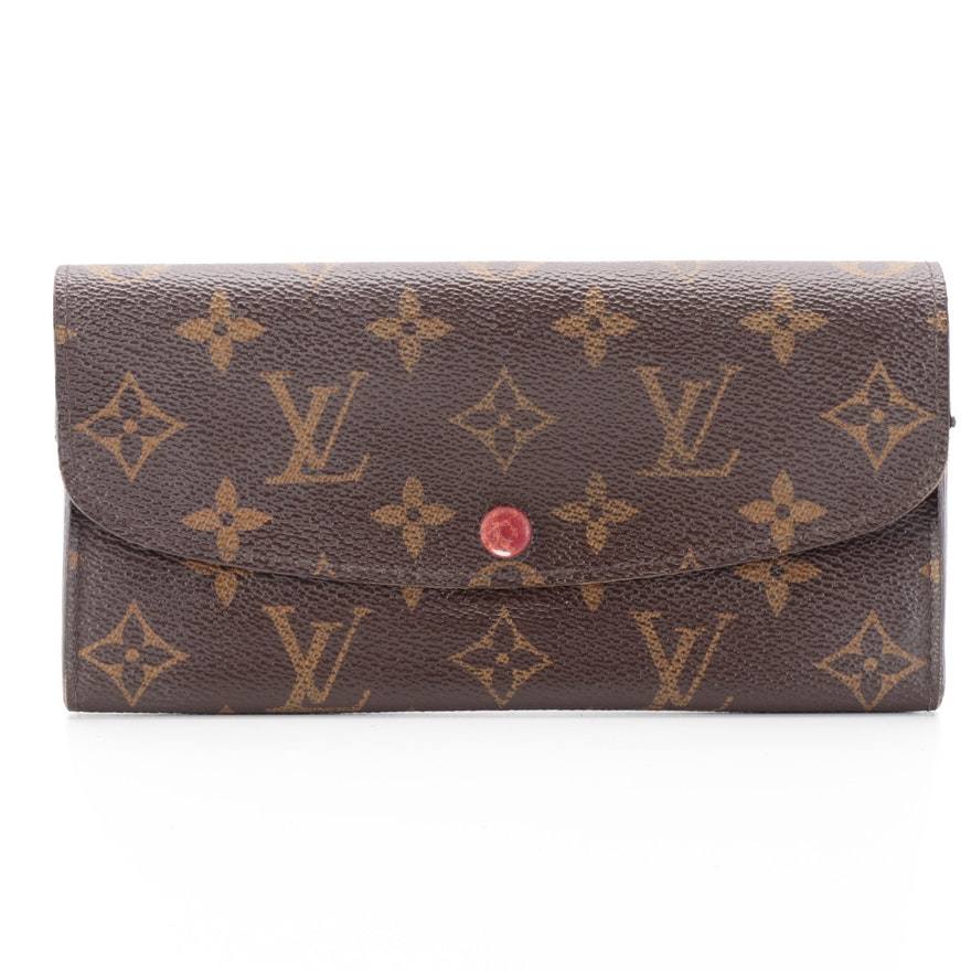 Louis Vuitton Emilie Continental Wallet in Monogram Canvas
