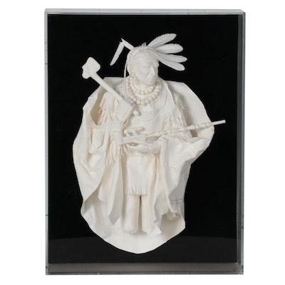"""Allen Eckman Paper Sculpture """"Pride of the Cherokee,"""" 2004"""