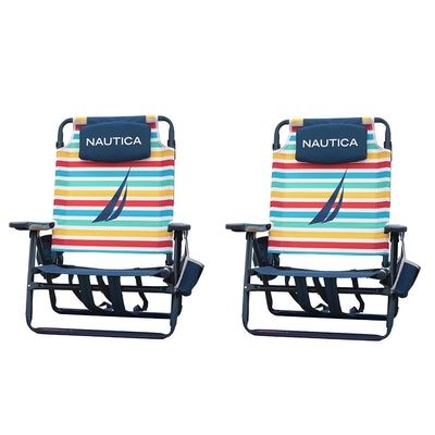 Nautica Beach Chair Two-Pack in Rainbow Block