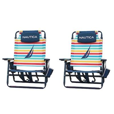 Nautica Beach Chair 2-Pack in Rainbow Block