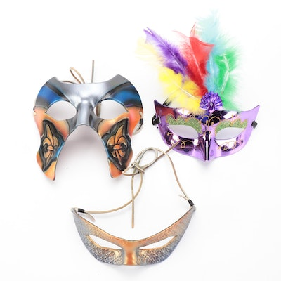 Carnival-Inspired Face Masks signed by Dianne Ladd