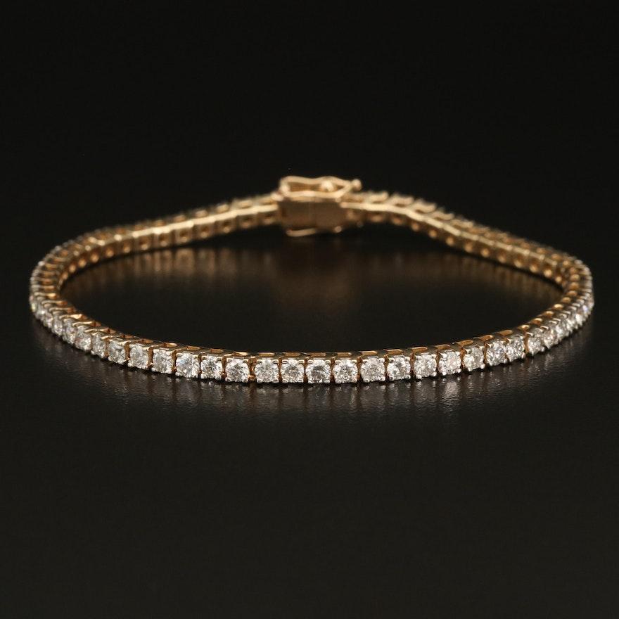 14K 4.00 CTW Diamond Tennis Bracelet