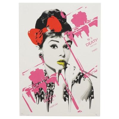 "Death NYC Pop Art Graphic Print ""Audrey No. 6 (Pink),"" 2020"