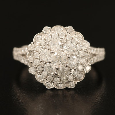 14K 1.33 CTW Diamond Halo Ring