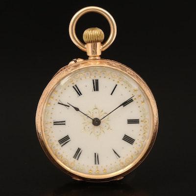 14K Swiss Pocket Watch