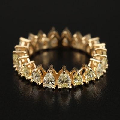 14K 3.36 CTW Yellow Diamond Eternity Band