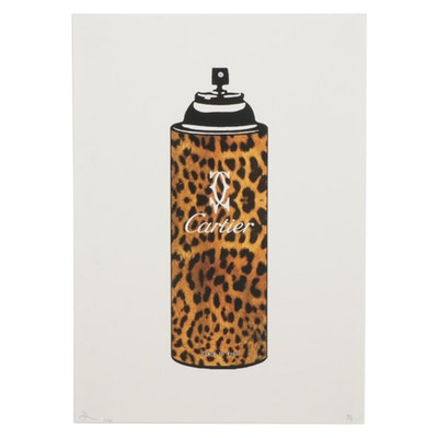"Death NYC Pop Art Graphic Print ""Leopard Spray,"" 2020"
