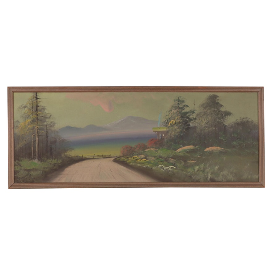 Landscape Oil Painting, Mid-20th Century
