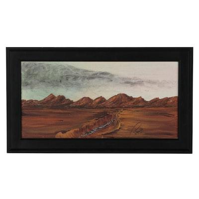 "Reynolds Western Landscape Acrylic Painting ""Just Passin' Thru"""