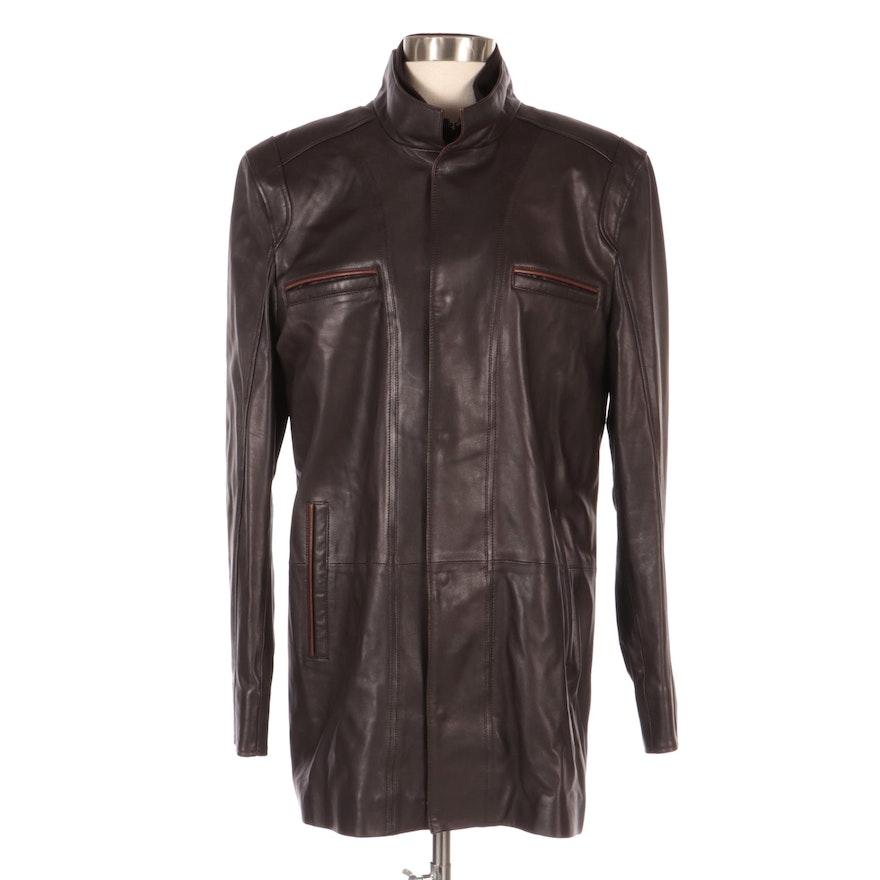 Men's PelleSi Lambskin Leather Jacket, New with Merchant Tags