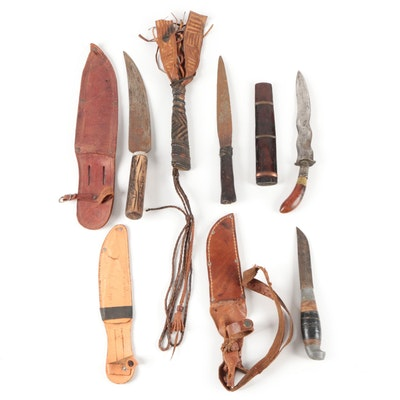 Handmade and Other Fixed Blade Knives in Scabbards
