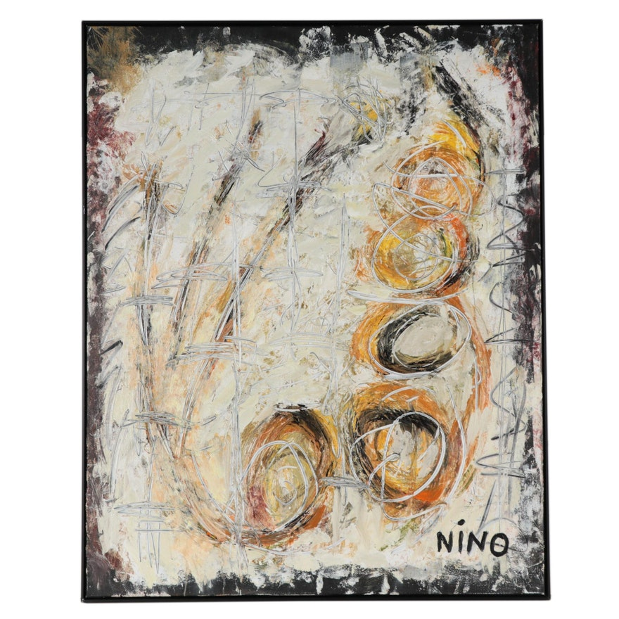 "Anthony ""Nino"" Sarti Monumental Mixed Media Painting ""Practicing Resistance"""