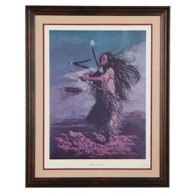 "Penni Anne Cross Offset Lithograph ""Dance Apache,"" 1988"