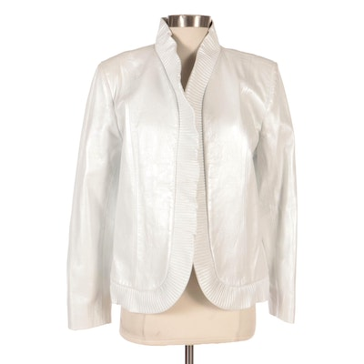 Dero by Rocco D'Amelio Pearlized Leather Jacket, New with Merchant Tag