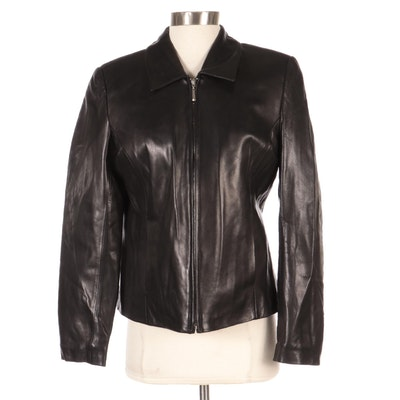 Rosleen Black Leather Jacket, New with Merchant Tags