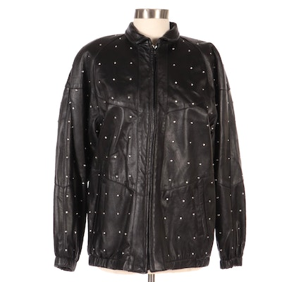 Dero by Rocco d'Amelio Embellished Leather Jacket, New with Merchant Tags