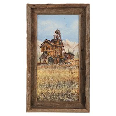 "James E. McNair Acrylic Painting ""Rico Mill,"" 1981"