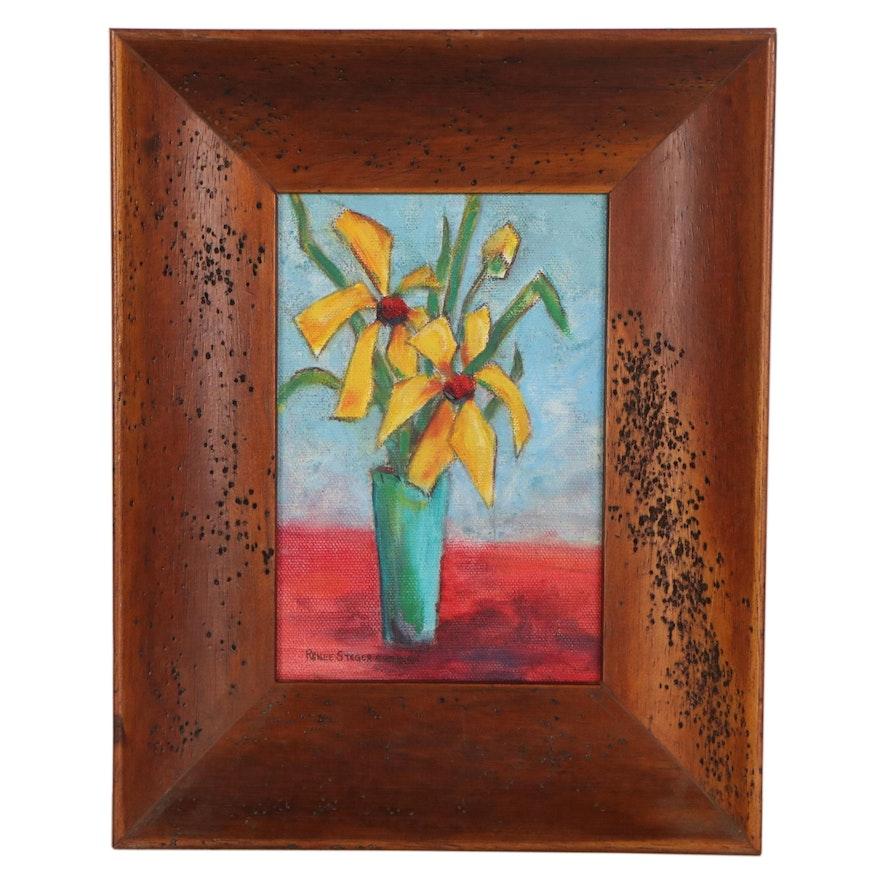 Renee Steger Simpson Oil Painting of Flowers