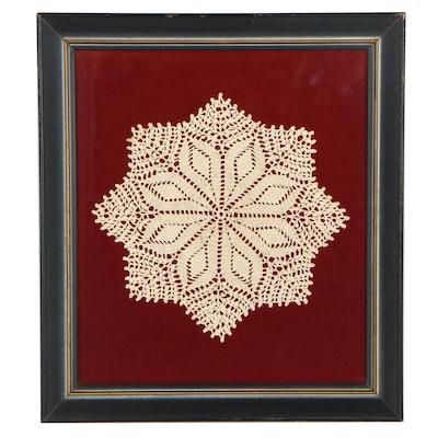 Framed Crochet Doile