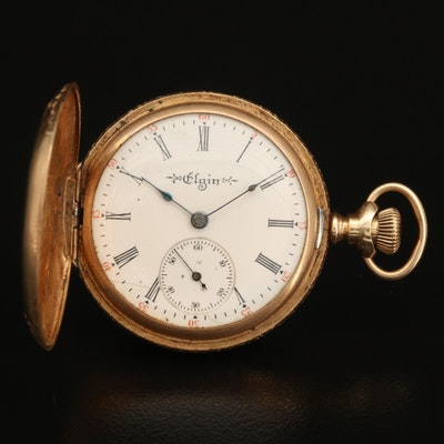 1904 14K Elgin Hunting Case Pocket Watch