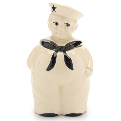 Shawnee Pottery CO. Sailor Boy Ceramic Cookie Jar, Mid-20th Century