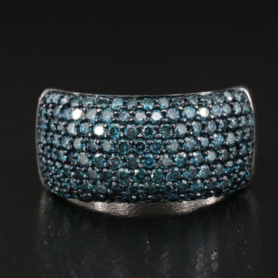 Sterling 2.05 CTW Pavé Diamond Tapered Band