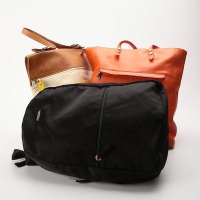 Issac Mizrahi Shoulder Bag, Christopher Kon Tote and Good Girl Backpack