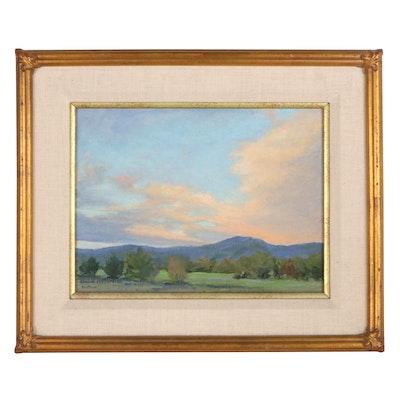 """Kelly McGuire Landscape Oil Painting """"Ranchos de Taos"""""""