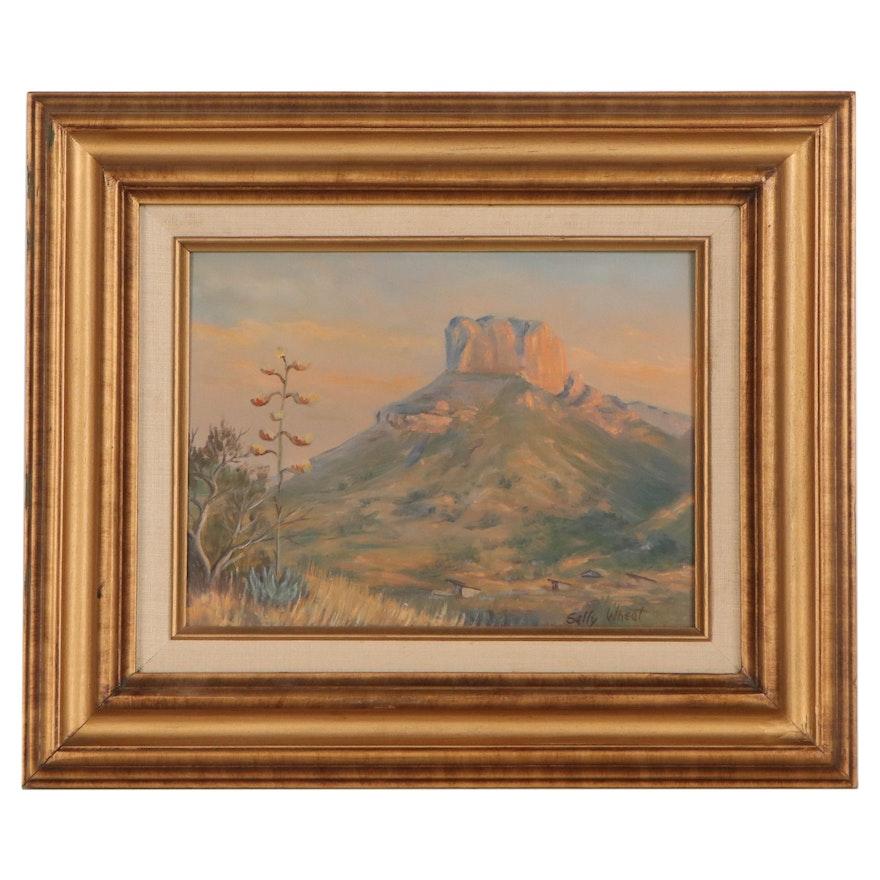 Sally Wheat Southwest Landscape Oil Painting, 21st Century