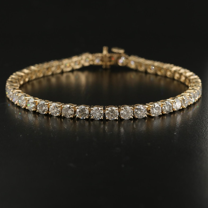 14K 12.01 CTW Diamond Line Bracelet