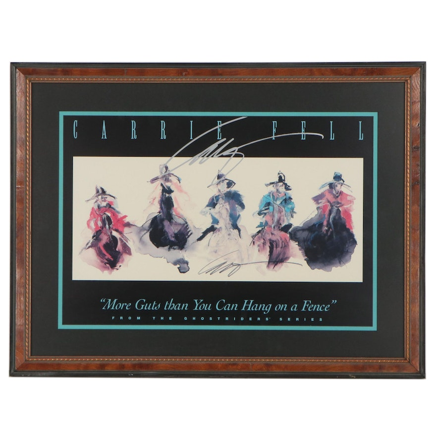 """Carrie Fell Offset Lithograph """"More Guts Than You Can Hang on a Fence"""""""