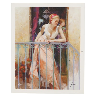 """Guiseppe Pino Giclée  """"At the Balcony"""""""