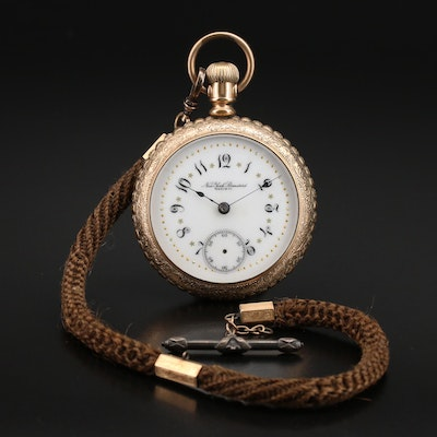 1892 New York Standard Pocket Watch with Victorian Fob