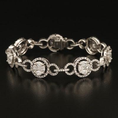 14K 4.00 CTW Diamond Bracelet