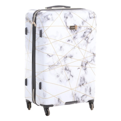 Juicy Couture Large Hardside Spinner Luggage in Marble Print