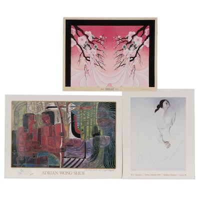 Offset Lithograph Exhibition Posters Including Adrian Wong Shue and More