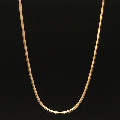 Italian 14K Fancy Link Chain Necklace
