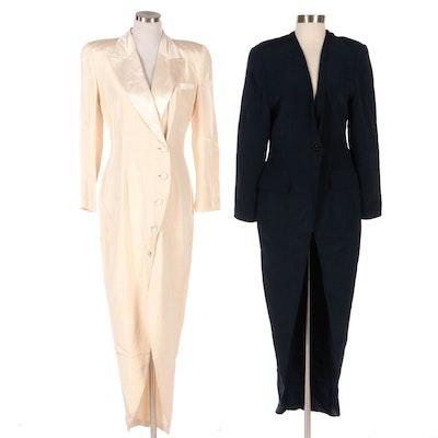 Eva Chun Tapered Cut-Away Full-Length Evening Coats