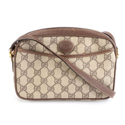 Gucci Crossbody Bag in GG Supreme Canvas with Leather Trim