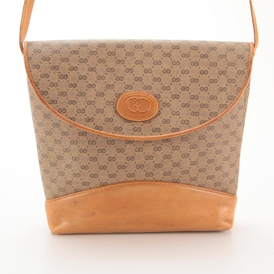 Gucci Crossbody Bag in Micro GG Canvas and Leather Trim