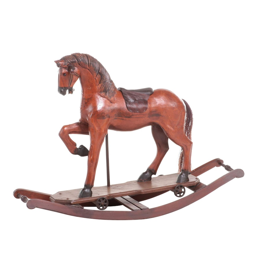 Victorian Style Handcrafted Rocking Horse