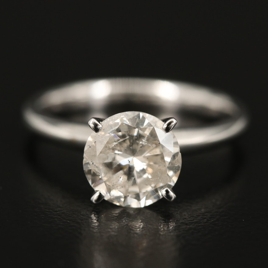 14K 1.97 CT Diamond Solitaire Ring